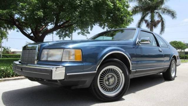 1988 Lincoln Mark Vii Lsc 2dr Coupe 92260 Miles Metallic Blue Coupe