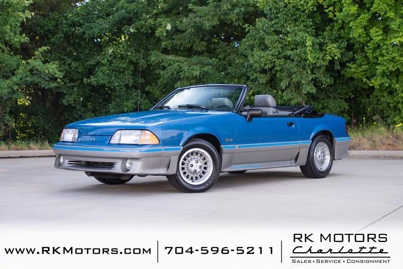 1989 Ford Mustang GT Regatta Blue Convertible 5.0 Liter V8 ...