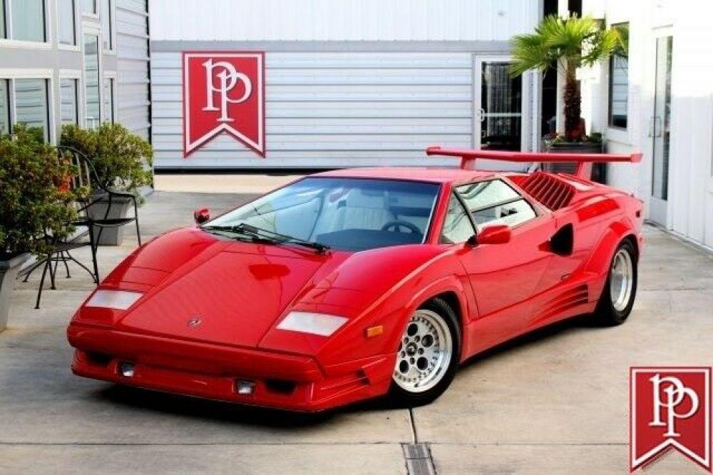1989 Lamborghini Countach 25th Anniversary Edition 30724 Miles Rosso
