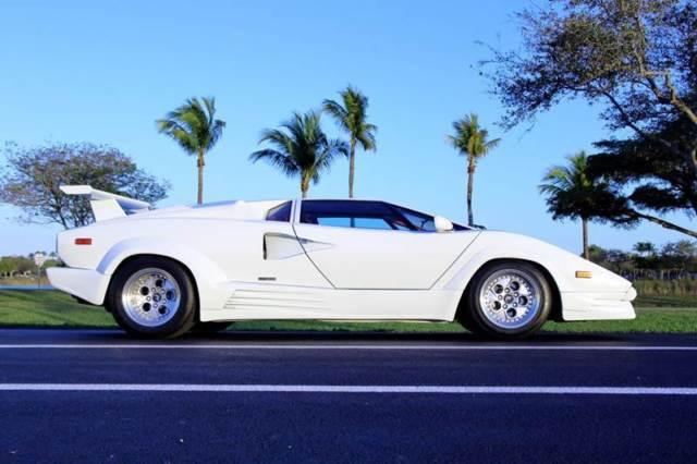 1989 Lamborghini Countach White Red Leather Classic 1989