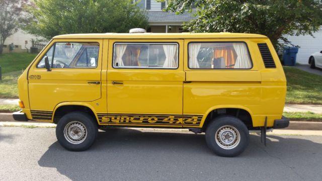 1989 Volkswagen Vanagon Syncro - Classic 1989 Volkswagen