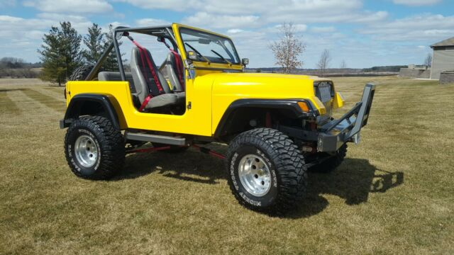 1990 Jeep Wrangler YJ All Custom, OEM Hard Top & Doors, Fiberglass