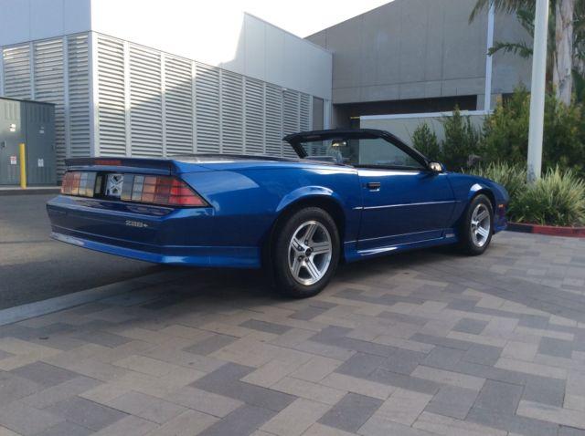 1991 Chevrolet Camaro Z28 Convertible Stunning 6200 mile