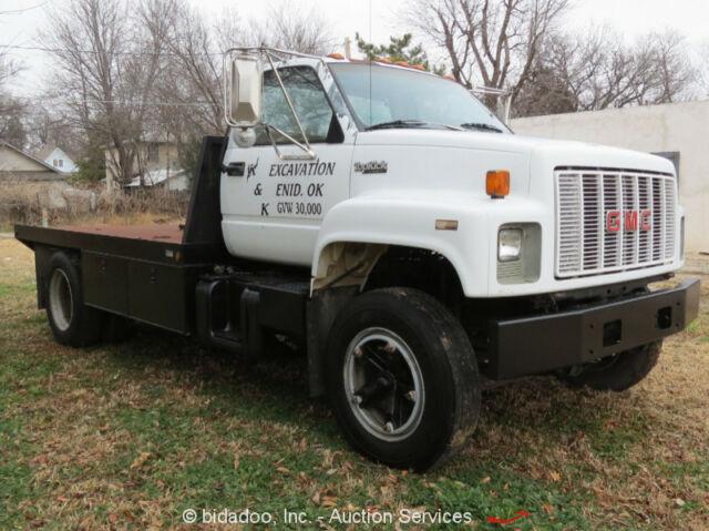 1992 GMC Topkick Utility Truck Flatbed 7 0L V8 5Spd A/C