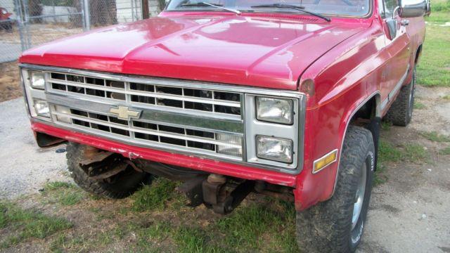 86 Chevy K10 4x4 Shortbed Silverado Squarebody