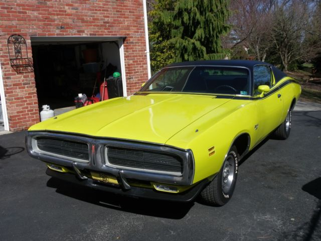 Beautiful Vintage 1971 Dodge Charger 56000 Miles Curious Yellow and