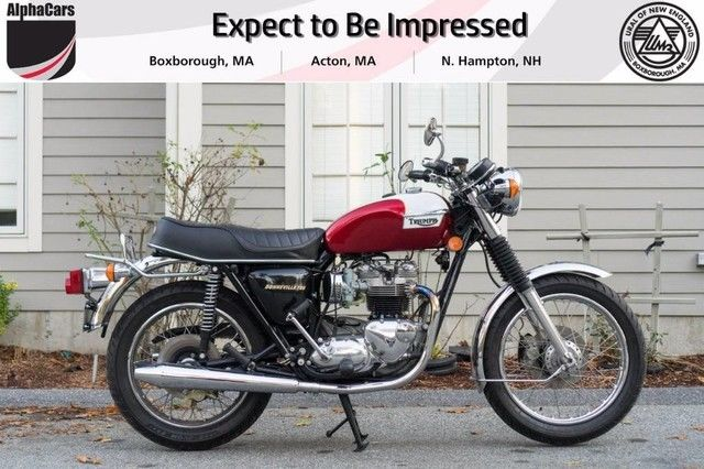 Candy Apple Red Custom Triumph Bonneville With 11685 Miles Available