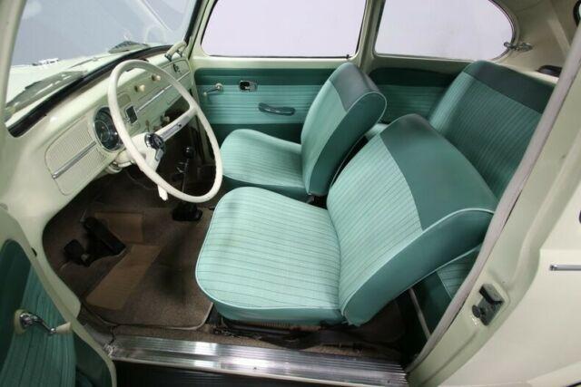 classic vintage bug vw v dub cream green EMPI lowered