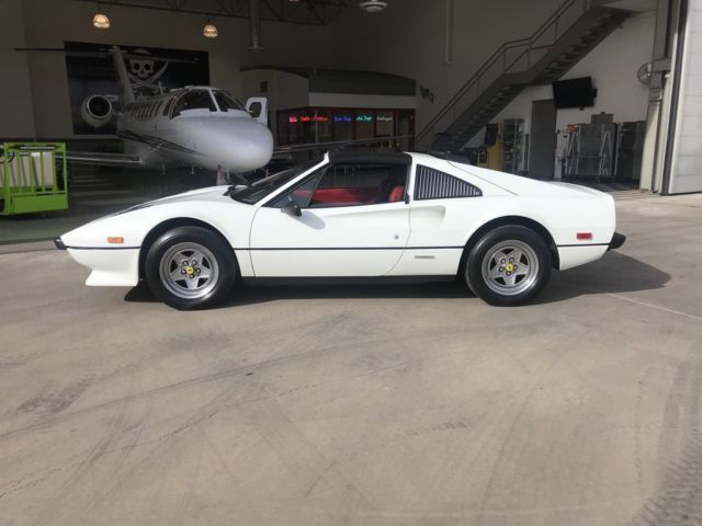 Ferrari 1985 308 Euro Car Very Rare White Red Interior Low