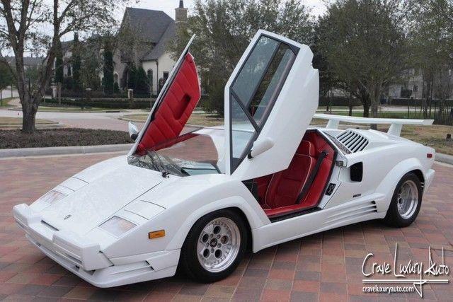 Lamborghini Countach 25th anniversary Rare 2,245 miles Crave Luxury ...