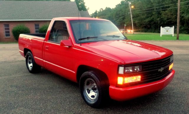 RARE 1992 RED 454 SS 45K CHEVY TRUCK C-10 SILVERADO 454SS OVERDRIVE