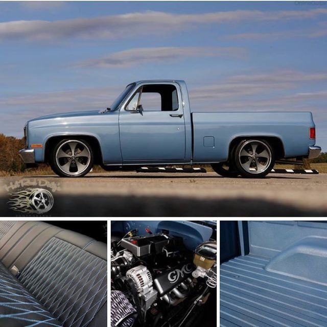 Slammed Silverado Chevy C10 Hot Rat Street Rod Patina Pickup