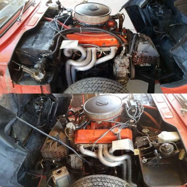 V8 327 Chevy 4speed Saginaw fiberglass flared widebody 70s